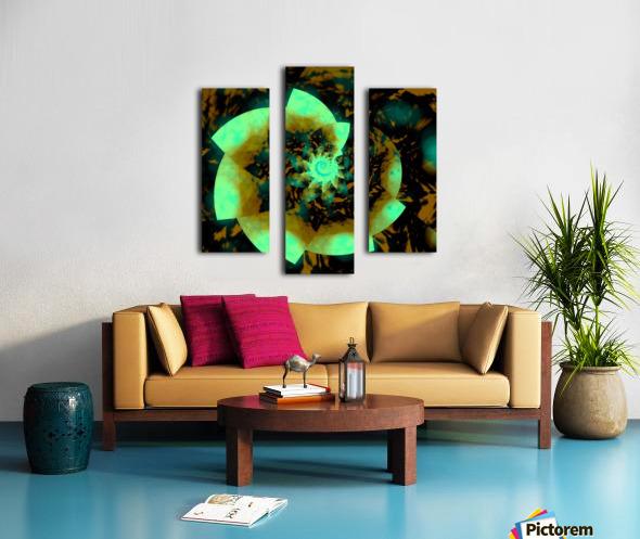 Digital_Vegetation Canvas print