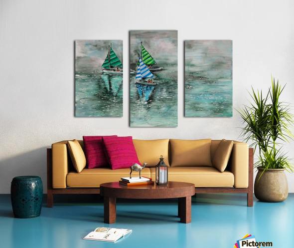 Naini lake_DKS Impression sur toile