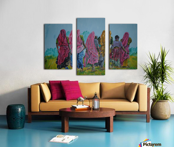 Village Women_DKS Impression sur toile