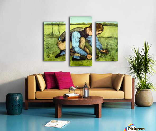 Cutting Grass by Van Gogh Canvas print