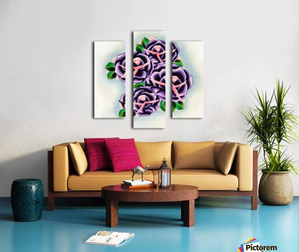 Roses Impression sur toile