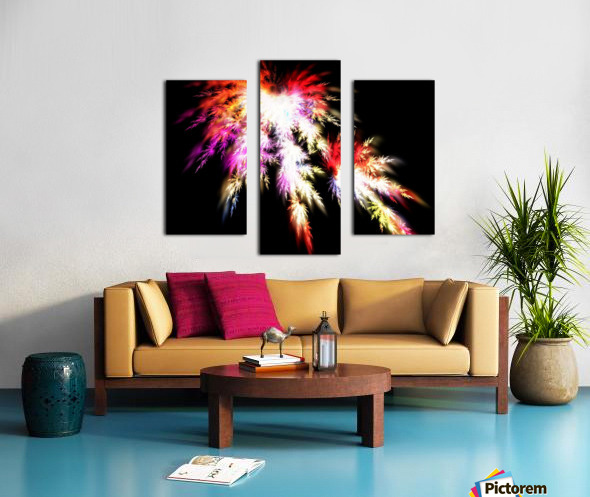 Peacock song Canvas print