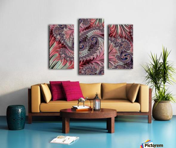 Fractal Art-Silk Brocade Canvas print