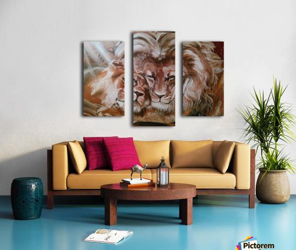 Leos.Fondness Canvas print