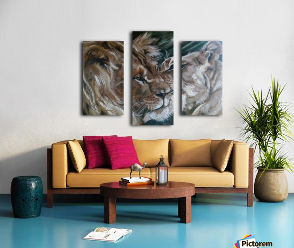 Leos. Tenderness. Canvas print
