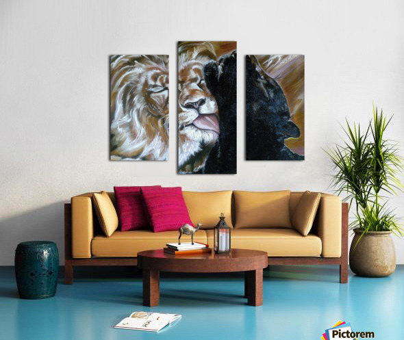 The Lion and the Panther Canvas print