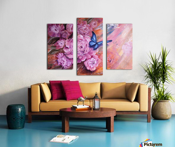 Flowers. Beauty. Canvas print