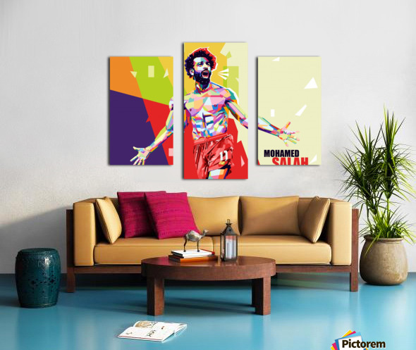 Mohamed salah Canvas print