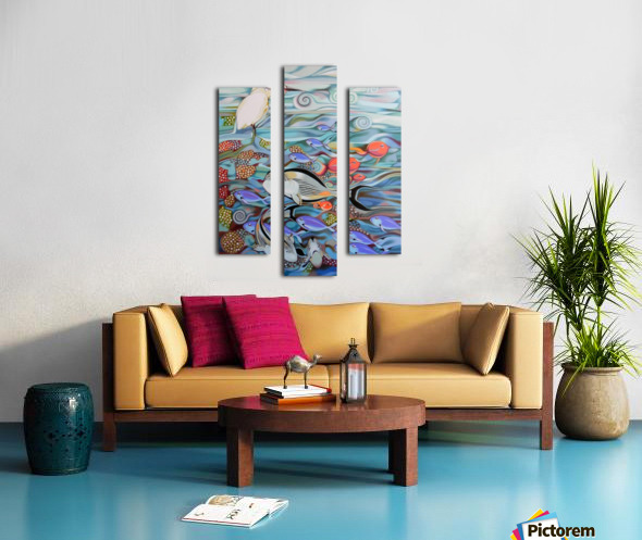 Memory of the coral reef Canvas print