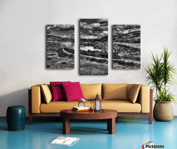 chama freight train B&W Canvas print