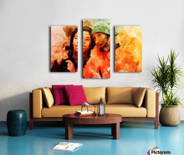 kobe and gianna bryant Canvas print
