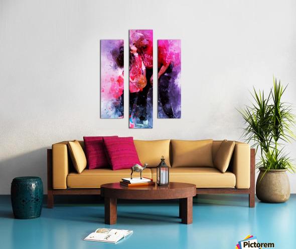 Gianna and kobe bryant Canvas print