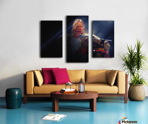 Kurt Cobain Live MTV Unplugged Canvas print