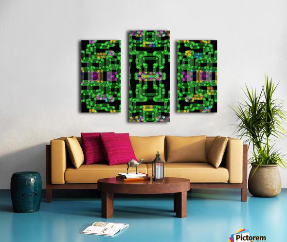 Colorful PIPES Canvas print