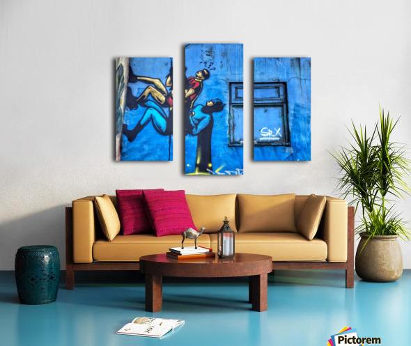 Dynamic Duo Canvas print