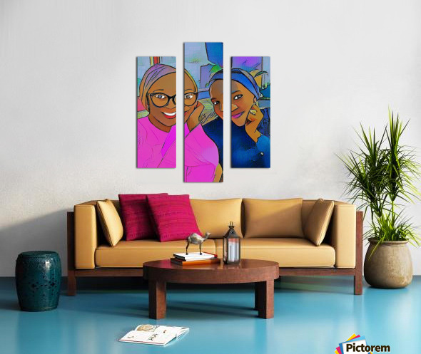 Hangout v2 Canvas print