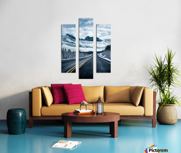 Icy Roads Canvas print