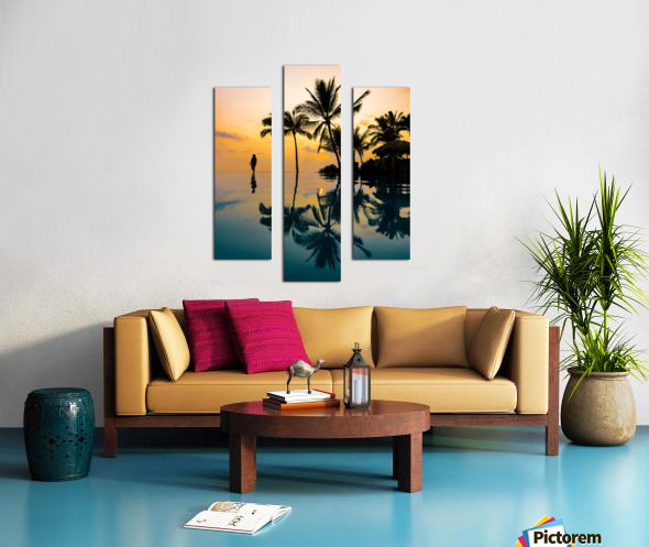 Relaxation Sunset Canvas print