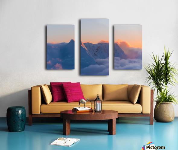 Pastel Peak Canvas print