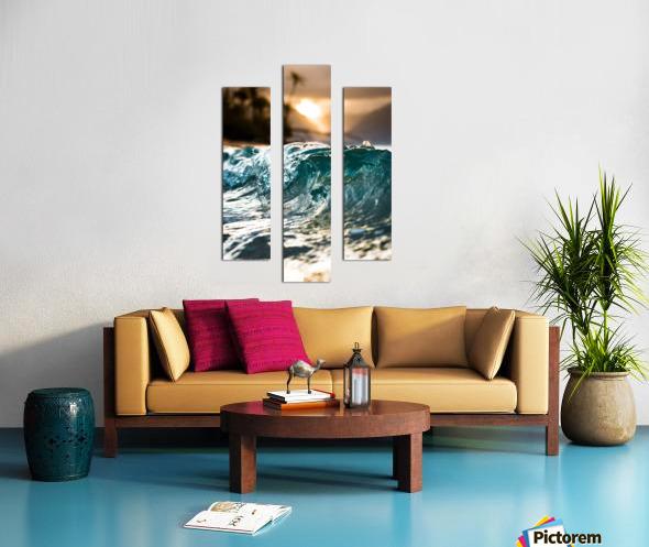 Glassy Wave Canvas print