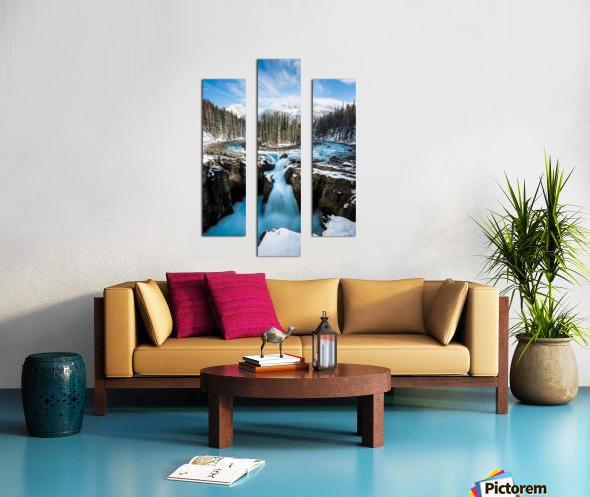 Snowy Sunwapta Falls Canvas print