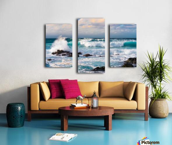 Blue Crash Canvas print