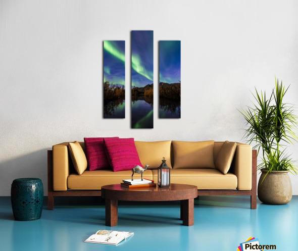 Northern Lights Reflection Canvas print