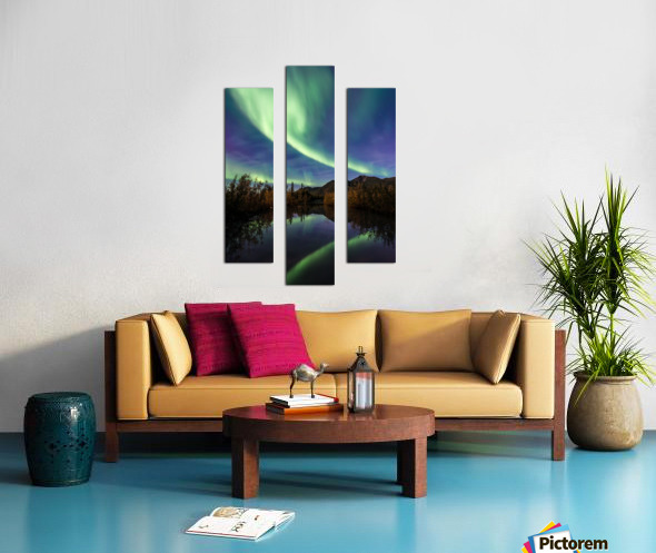 Aurora Reflections Canvas print