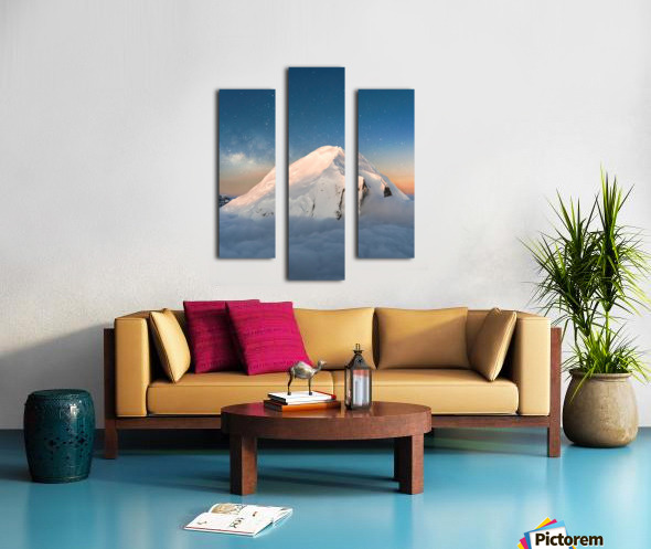 Starry Peak Canvas print