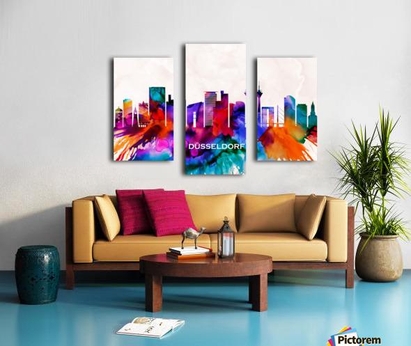 Dusseldorf Skyline Canvas print