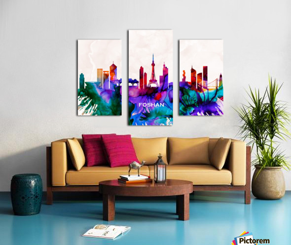 Foshan Skyline Canvas print