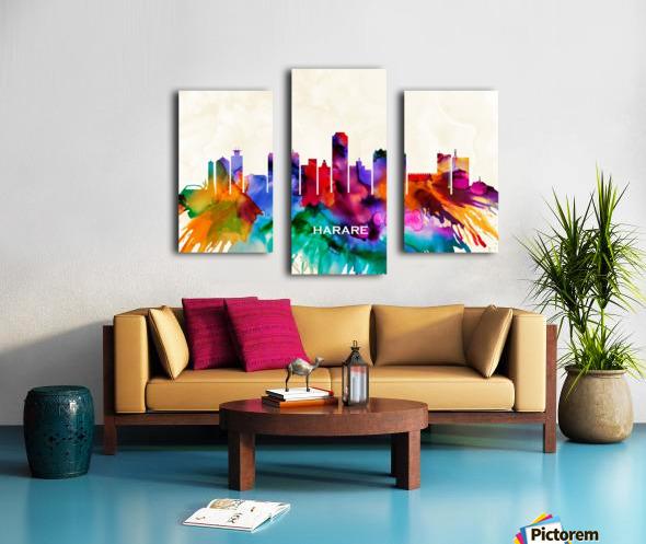 Harare Skyline Canvas print