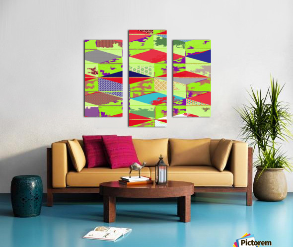 patchwork cubes by dePace Canvas print