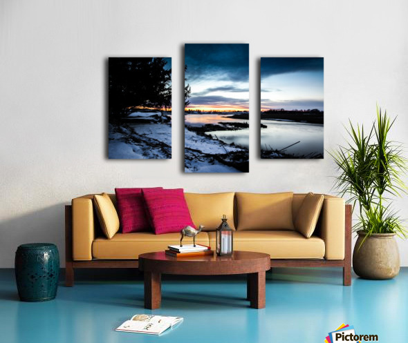 The Nith - Post Sunset Canvas print