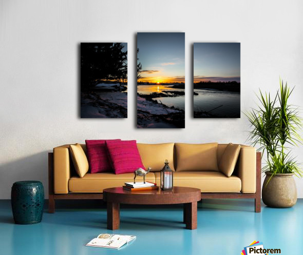 The Nith - Pre Sunset Canvas print