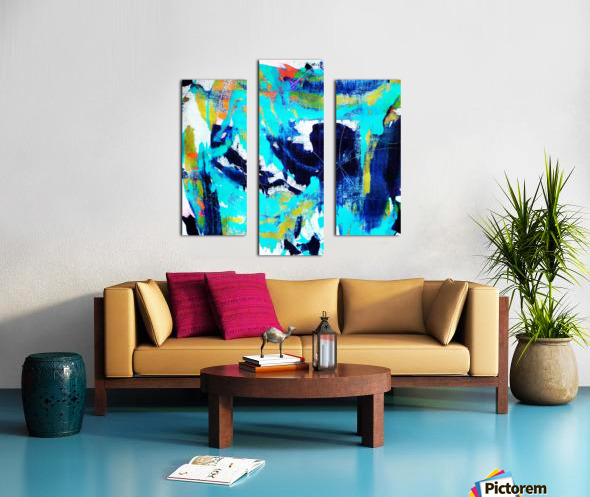 Abstract Ikat Impression sur toile