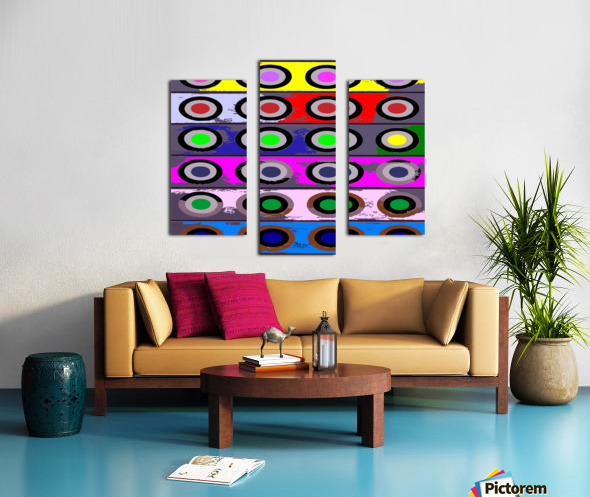 Circle Crazy by dePace Canvas print