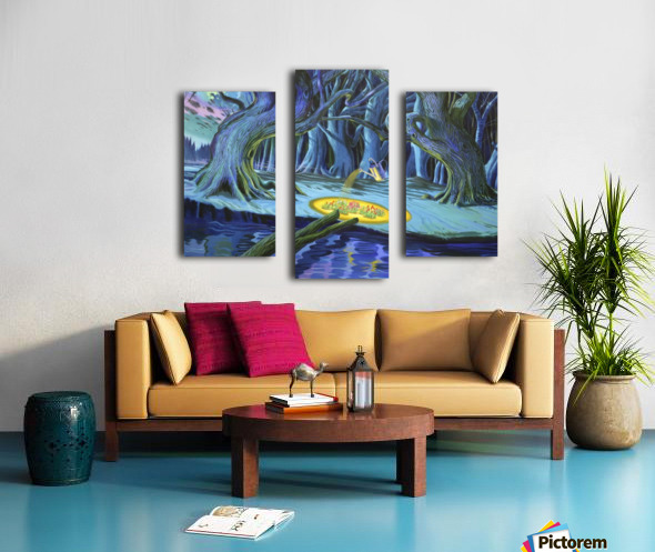 Mystic Flower Garden Canvas print