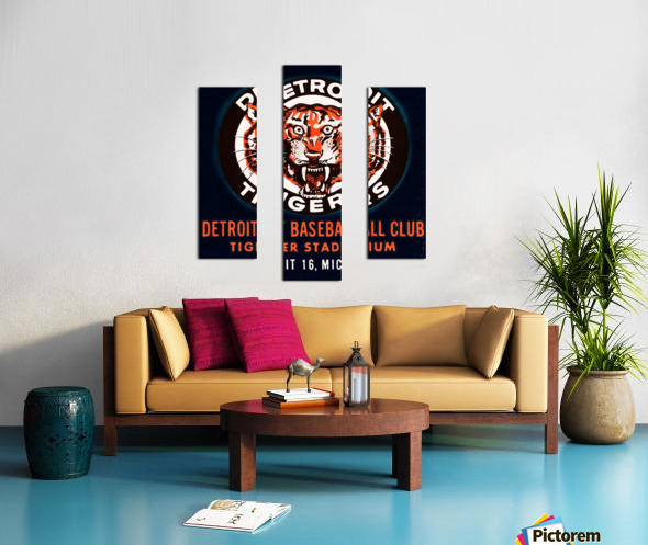 1963 Detroit Tigers Art  Canvas print