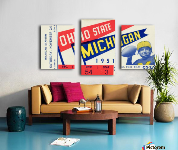 1951 Ohio State vs. Michigan Canvas print