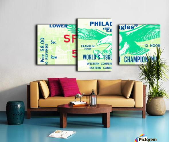 1960 Philadelphia Eagles Football Ticket Canvas print