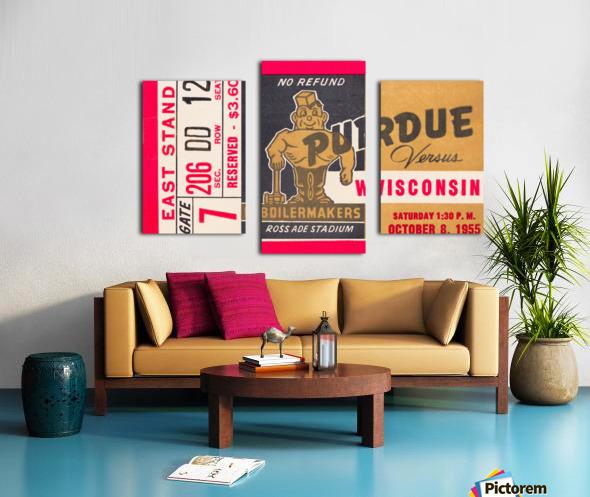 1955 Wisconsin vs. Purdue Canvas print