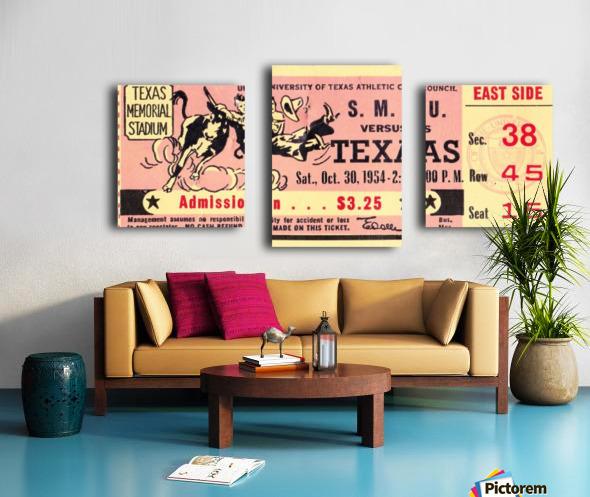 1954_College_Football_Texas vs. SMU_Texas Memorial Stadium_Austin_Row One Brand Canvas print
