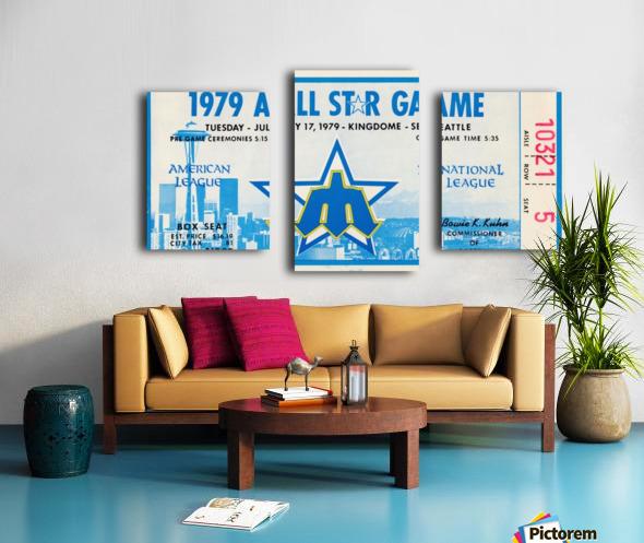 1979 Major League All-Star Game Seattle Canvas print