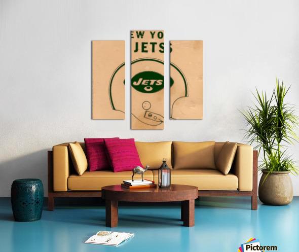 1971 New York Jets Vintage Helmet Art Canvas print