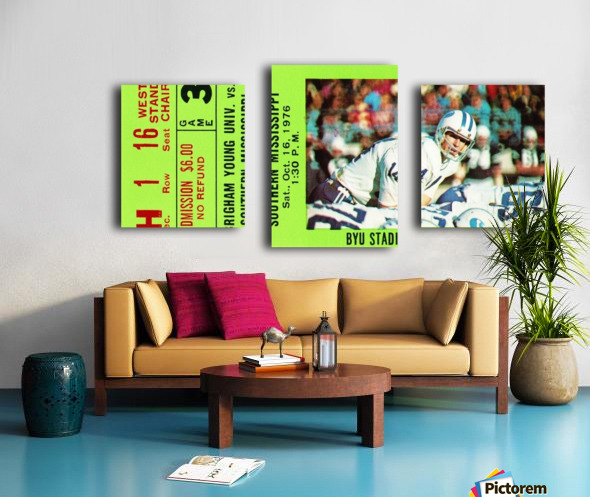 1976 BYU Cougars Ticket Stub Canvas print