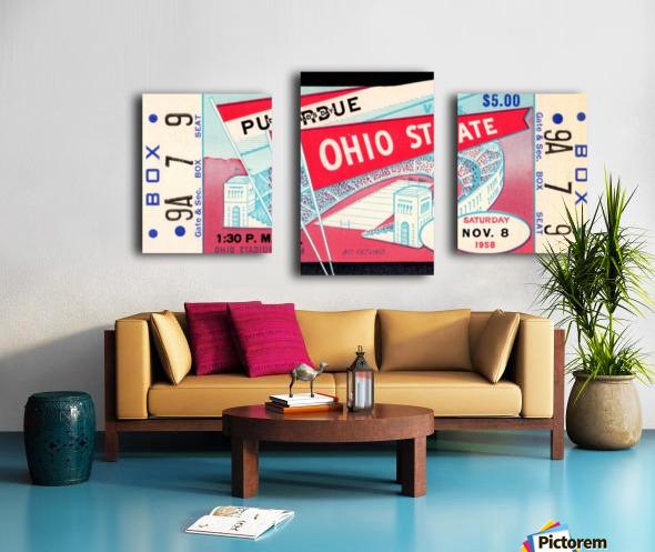 1958_College_Football_Purdue vs. Ohio State_Ohio Stadium_Row One Brand Canvas print