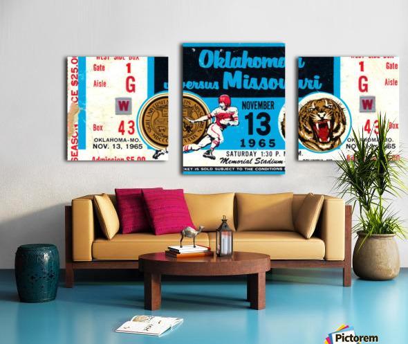 1965_College_Football_Oklahoma vs. Missouri_Memorial Stadium_Columbia_Row One Canvas print