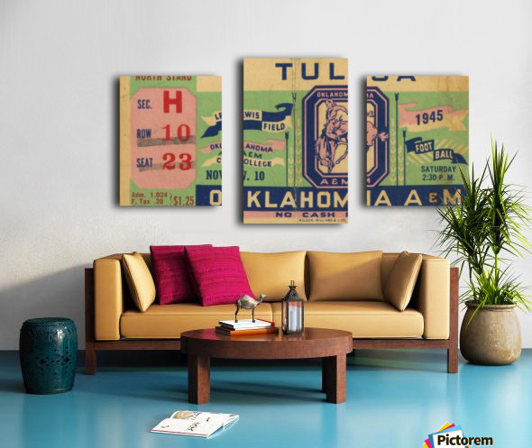 1945 Oklahoma A&M vs. Tulsa Canvas print