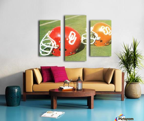 1978 Oklahoma Sooners OSU Cowboys Football Helmet Art  Canvas print